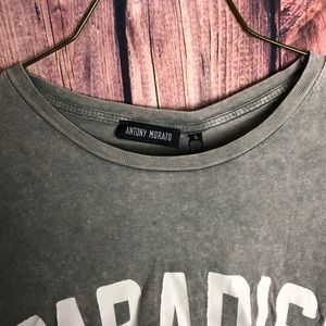 Antony Morato Shirts - Antony Morato Men's Acid-Wash Typographic Tee S